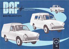 DAF Vans (1964).  http://brochuremuseum.nl/autofolders/daf/dafbestelauto1964nlfold.html