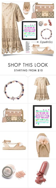 """""""Step into Summer: Espadrilles"""" by samra-bv ❤ liked on Polyvore featuring Sea, New York, Gucci, Soludos, LAQA & Co., espadrilles, contestentry, polyvoreset and shopjewelry"""