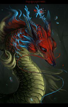 Hefmur by Darenrin on Deviant Art Digital Art / Drawings & Paintings / Fantasy #dragon #myth #legend