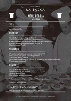 Menu del Dia en el Restaurante La Bocca