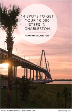 Charleston, South Carolina's idyllic coastal location & temperate climate provide all the motivation we need to lace up our tennis shoes and spend time in the Great Outdoors! Discover 14 spots to get your 10,000 steps in Charleston.   Charlestonly.com
