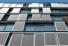 Hunter Douglas Sun Control - Sliding Shutters.  #façade #shutters #hunter…