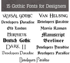 Beautiful Free Gothic Fonts