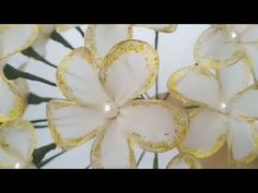 DIY How to make flowers with white stocking - Tutorial - YouTube