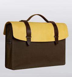"Seventy Eight Percent Dimitri Yellow Olive 13"" Laptop Medium Satchel - Rushfaster.com.au Australia"