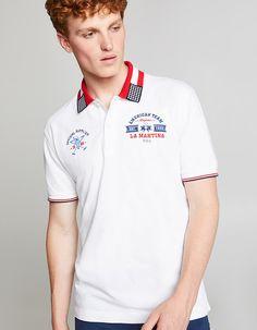 Polo Rugby Shirt, Pique Polo Shirt, Polo T Shirts, Boys Shirts, Polo Shirt Outfits, Hoodie Outfit, Camisa Polo, Collar Designs, Shirt Designs