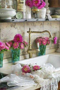 romantic kitchen