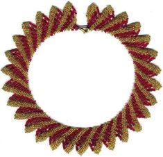 Beginner pattern seed beaded Royal necklace by JewelrybyVarvara