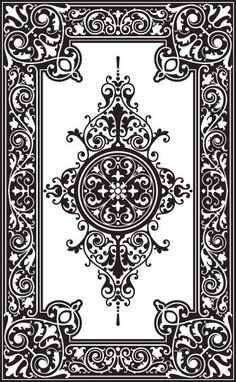 Custom patterns and stencils for etching, faux painting, embossing . Stencil Patterns, Stencil Designs, Pattern Art, Pattern Design, Damask Stencil, Design Design, Craft Robo, Molduras Vintage, Faux Painting