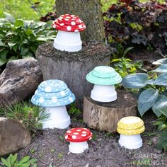 Clay Pot Toadstools   Fun Family Crafts Outdoor Crafts, Outdoor Projects, Outdoor Decor, Edible Crafts, Diy Crafts, Recycled Crafts Kids, Clay Pot Crafts, Family Crafts, Terracotta Pots
