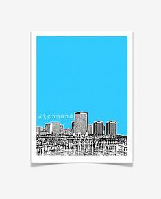 Richmond Virginia State Art Print - Skyline Series Poster - VERSION 2 RICHMOND VERSION 1: https://www.etsy.com/listing/105443860/richmond-virginia-poster-city-state **OPTIONS** 1. Personalize / Add Wording: