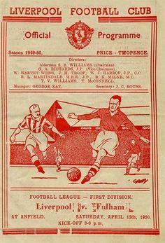 Liverpool Poster, Liverpool Fc, Gerrard Liverpool, Fulham Fc, Laws Of The Game, Association Football, Most Popular Sports, Liverpool Football Club, Football Program