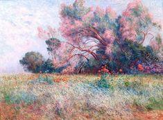 oldpaintings:    Tamaris et Champs de Coquelicots c.1915 by Ferdinand du Puigaudeau (French 18641930)