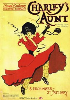 charlie's aunt poster royal exchange manchester Theatre Posters, Aunt, Manchester, Drama, Google Search, Drama Theater, Dramas