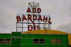 Bardahl Oil sign, Ballard, Seattle  by Curtis Cronn, via Flickr