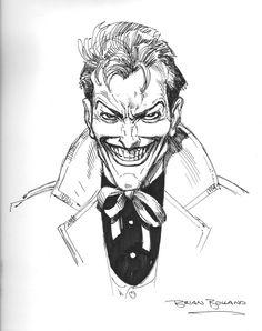 Brian Bolland - Joker sketch