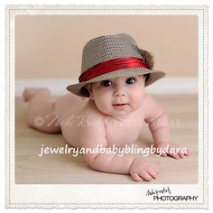 Cute hat for baby boy pictures!