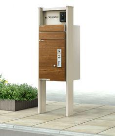 YKK AP(株)は24日、同社の人気エクステリアシリーズ「ルシアス」から、宅配ボックスと郵便ポストを一体型にした宅配ポスト『ルシアス 宅配ポスト1型』を新発売した。 デザインにもこだわった宅配ボックス機能付きポスト Package Mailbox, Signage, My House, Gate, Entrance, Interior, Outdoor Decor, Front Doors, Furniture