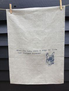 Ugly Truth 2 French Bulldog tea towel by MakerAndMerchant on Etsy, $25.00. So funny!