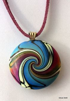 Swirl Pendant by Sue Corrie (Ghost Shift).