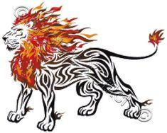 Tribal flame lion cross stitch | Yiotas XStitch