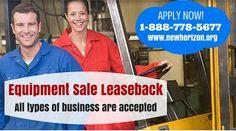 Equipment Sale Leaseback - www.newhorizon.org