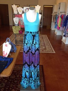 Love the colors on this Maxi dress from Gigi's Boutique!