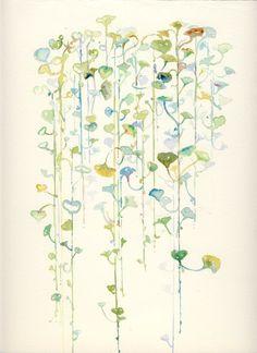 Watercolor Illustration  garden series  by silverridgestudio, $125.00