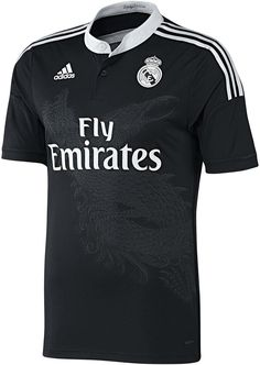 The new Real Madrid Home Kit comes with pink details, while the Real Madrid Away Jersey is pink. The Real Madrid Yamamoto Third Kit features a unique dragon watermark on the front. Real Madrid 2014, Real Madrid Third Kit, Soccer Gear, Soccer Kits, Football Kits, Football Jerseys, Premier League, Team Uniforms, Yohji Yamamoto