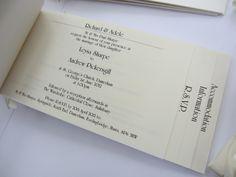 cheque book wedding invitations - Google Search