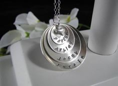 Sterling Silver Hand Stamped MOM Grandmother by auctionprincess, $64.00. I need this!!
