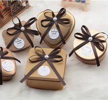 1 pcs Bonito Pequenas Latas De Metal caixa de armazenamento de Doces de Ouro + Fita para o Aniversário pacote de doces de casamento favor do casamento titular(China (Mainland))