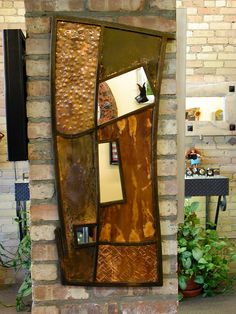 Patinated copper & patinated steel mirror badman.com | Badman Design | Grand Forks, ND