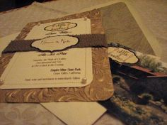 Love these diy wedding invites by delores
