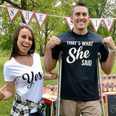 That's what she said, yes! wedding matching couples shirts - Wedding Shirts - Wedding Gift - Bridal Party Shirts - Hubby Wifey Shirts