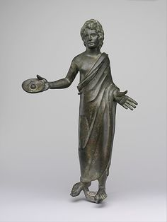 Bronze statuette of a priest  Period:     Hellenistic Date:     3rd–2nd century B.C. Culture:     Etruscan Medium:     Bronze