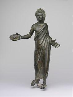 Bronze statuette of a priest Period: Hellenistic Date: 3rd–2nd century B.C. Culture: Etruscan Medium: Bronze
