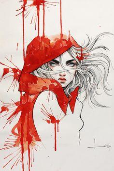 kelogsloops: A Hood of RedFind me on : deviantArt | facebook | instagram by kelogsloops