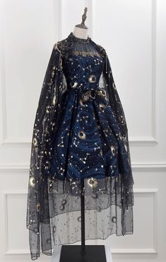 Lost Angel -The Starry Night- Lolita Cape (Gauze Version) Lost Angel -The Starry Night- Lolita Cape (Gauze Version) Pretty Outfits, Pretty Dresses, Beautiful Dresses, Old Fashion Dresses, Fashion Outfits, Fashion Clothes, Fashion Accessories, Ball Dresses, Ball Gowns
