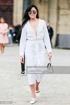 Kristina Bazan is attending the Christian Dior show during Paris Fashion Week Spring Summer 2017 at the Rodin museum on September 30 2016 in Paris...