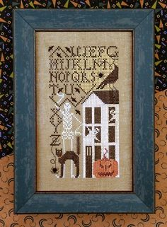 Simply Scary Simple Samplers Halloween cross stitch pattern by The Drawn at thecottageneedle.com