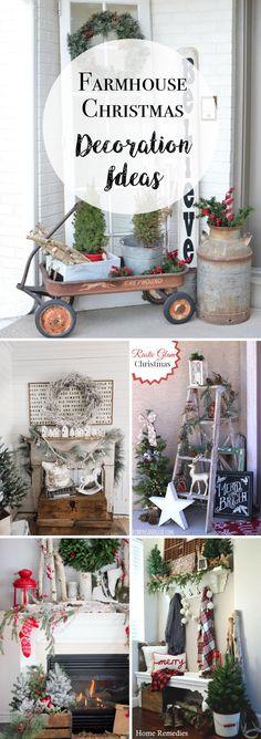 30 Enchanting Farmhouse Christmas Decoration Ideas Screaming with Festive Joy