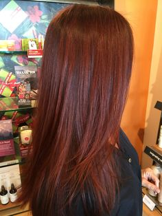Deep Red Hair!! AVEDA Color
