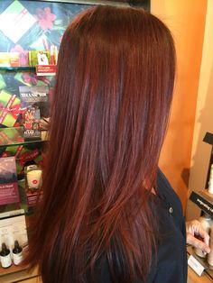 Deep Red Hair!! AVEDA Color