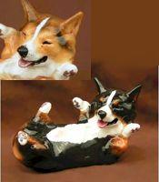 Corgi rollicking dog figurine $60