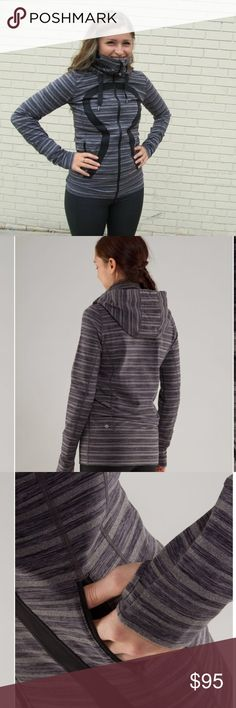 Lululemon💕Stride Jacket Stripes Galore Yoga 6💕 Lovely lululemon Stride Jacket in stripes Galore. Size 6 and in pristine condition. 🚫trades//bundle to save ✅✅ lululemon athletica Jackets & Coats