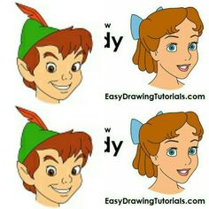 Draw Peter Pan and Wendy