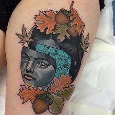 Autumn Traveller Tattoo by Piotr Gie NeoTraditional NeoTraditionalArtist NeoTraditionalTattoos ModernTattoos BoldTattoos PiotrGie