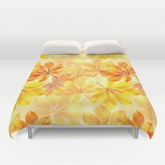 #autumn #fall #leaves #leaf #orange #yellow #gold #multicolored #duvetcover #bedroom in different #homedecor products too. Check more at society6.com/julianarw