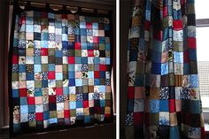 Tutorial: patchwork curtains and cushions